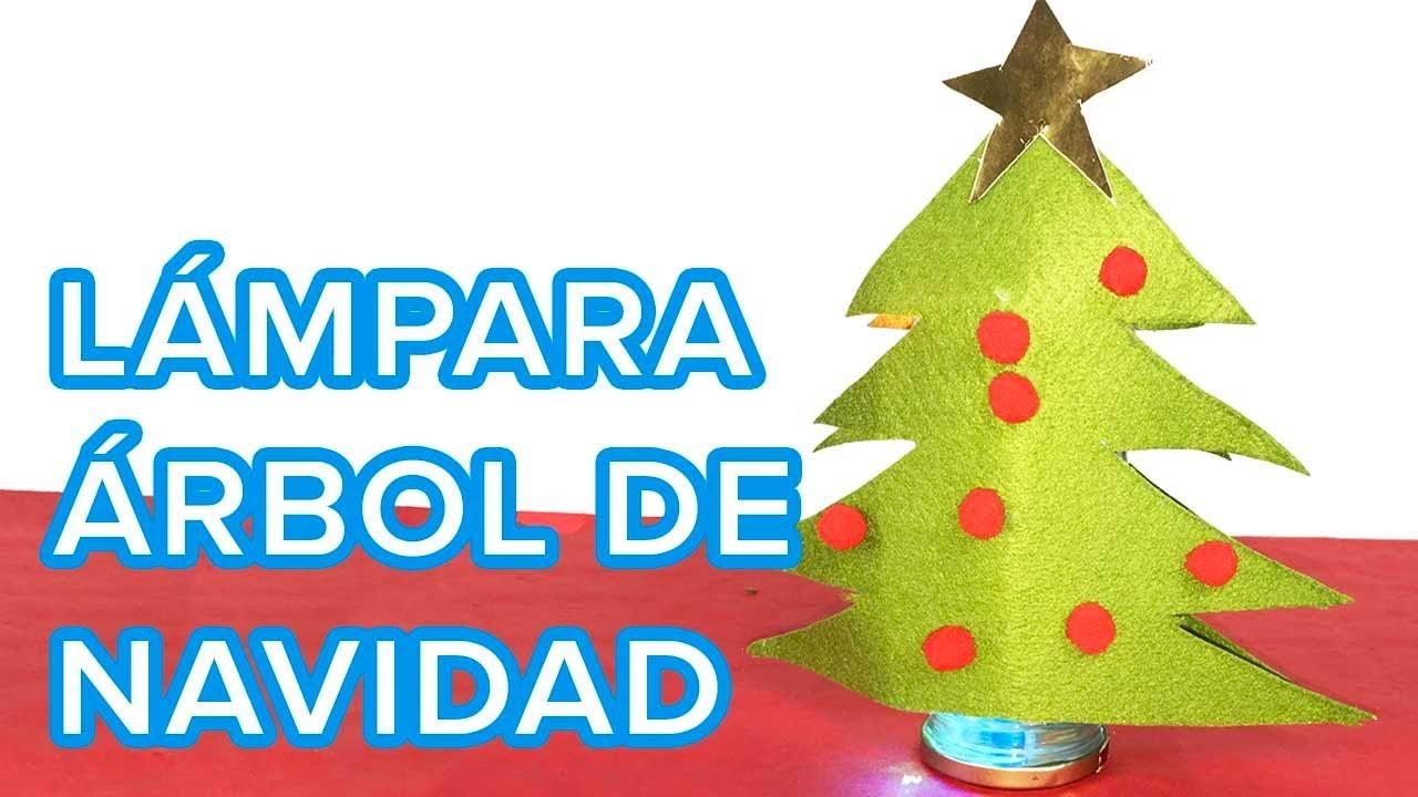 Cómo hacer una lámpara con forma de Árbol de Navidad | Manualidades infantiles