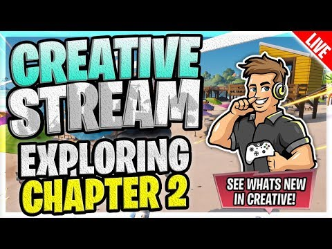 Whats new In Creative, The Battle Pass(Tier 100 skin) & Exploring Chapter 2! (Stream Replay)