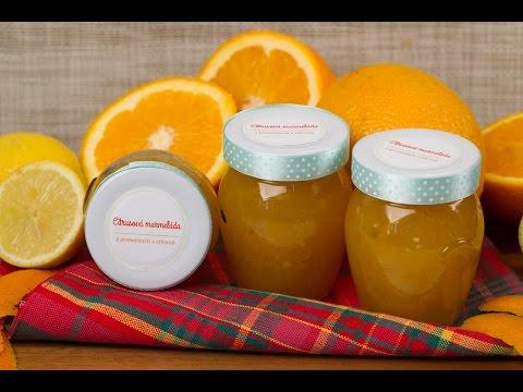 Citrusová marmeláda z pomerančů a citronů