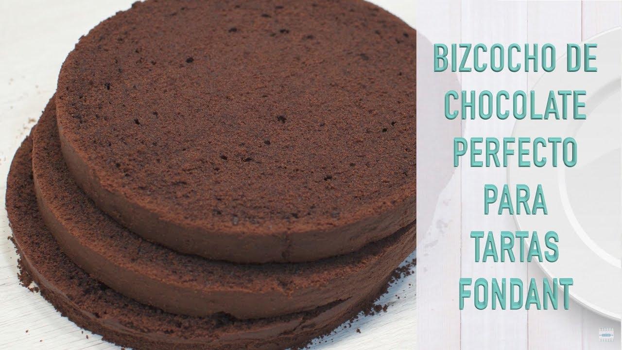 Bizcocho Chocolate para Tartas | Bizcocho para Fondant | Bizcocho para Tartas Fondant de Chocolate
