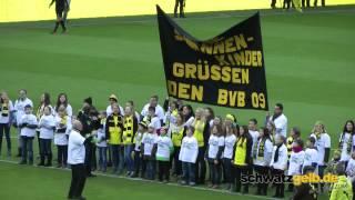 Die Sonnenkinder im Westfalenstadion (BVB - Hertha 21.12.2013) Selmer Kinderchor