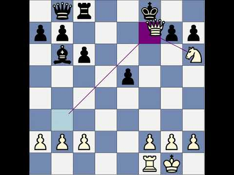 Chess mini-lesson: Smothered mate.