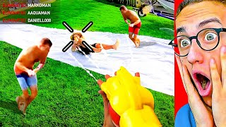 Playing INSANE NERF VIDEOS GAMES in REAL LIFE!