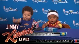 Press Conference With Baby Steph Curry and Baby LeBron