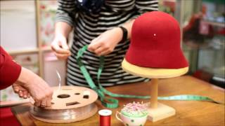 How To Make A 1920s  Wool Felt Cloche Hat  - Adrienne Henry Millinery Workshop