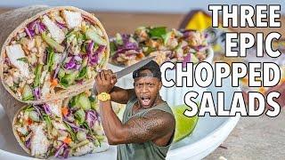 3 Epic Healthy AF Chopped Salads / 3 Ensaladas Picadas