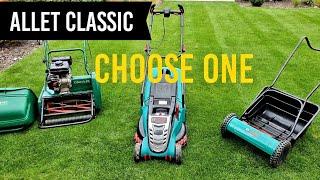 The Best Petrol & Electric Lawn Mowers? Allett Classic - Bosch Rotak