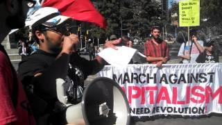 Ruben Mendez at March Against Capitalism