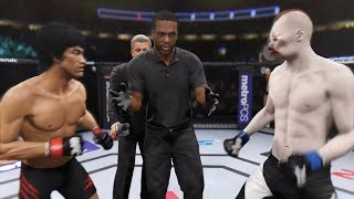 Bruce Lee vs. Crazy Frog (EA Sports UFC 2) - CPU vs. CPU