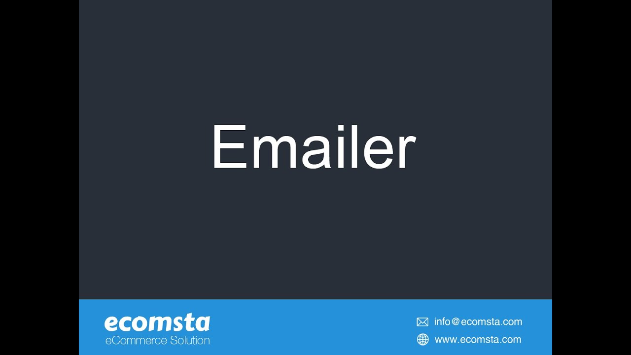 How to send bulk emails in eComsta?