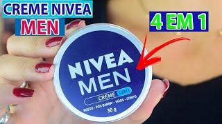 CREME NIVEA MEN | 4 em 1 Rosto, Pós Barba, Mãos e Corpo! Por Joyce Vignochi