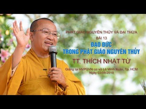 Bài 13: Đạo đức trong Phật giáo nguyên thủy - TT. Thích Nhật Từ