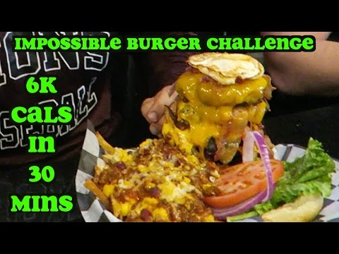 Download Impossible Burger Challenge | 6K Calories in 30 Minutes Mp4 HD Video and MP3