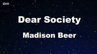Dear Society   Madison Beer Karaoke 【No Guide Melody】 Instrumental