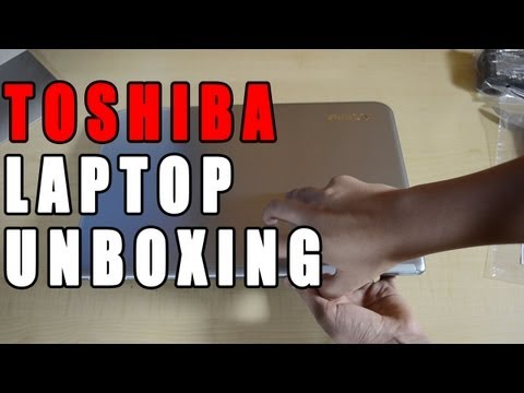 New Toshiba Satellite Laptop Unboxing