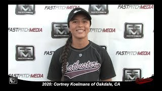2020 Cortney Koelmans Pitcher Softball Skills Video