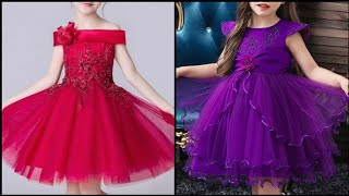Beautiful Cute Flower Girls Dresses/tulle Evening Party Gowns For Little Girls