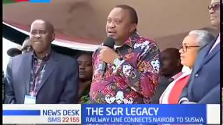 President Kenyatta launches the 2nd phase of SGR, defends his legacy.