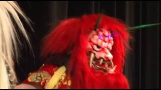 石見神楽佐野社中が松阪宣長まつりに友好神楽舞披露