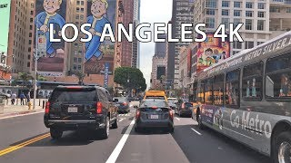 Driving Downtown - Los Angeles 4K - USA
