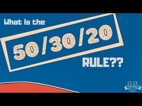 What is the 50/30/20 Rule?!