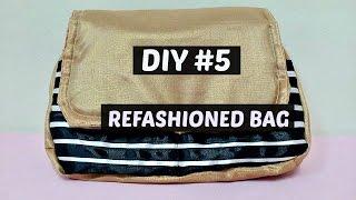 DIY #5 BAG REFASHION WITH RIBBONS / heartycinDIYs