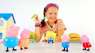 Рецепты для детей - гамбургер для свинки Пеппы