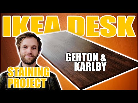 My IKEA Gerton & Karlby Desk Staining Project!