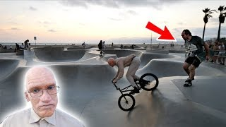 OLD MAN BMX RIDER PRANK - 'LESTER FRANK'