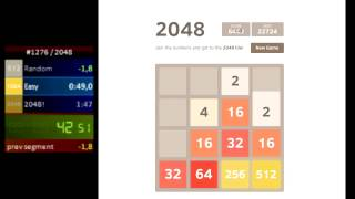 2048 speedrun in 1:36 Former World Record