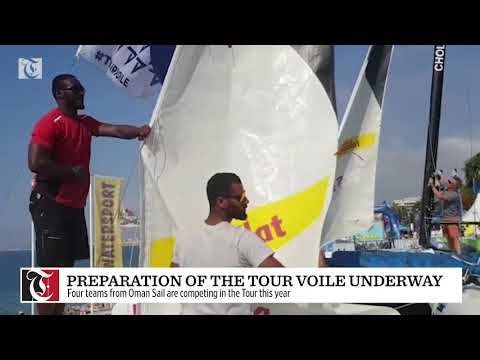Preparation of the Tour Voile underway