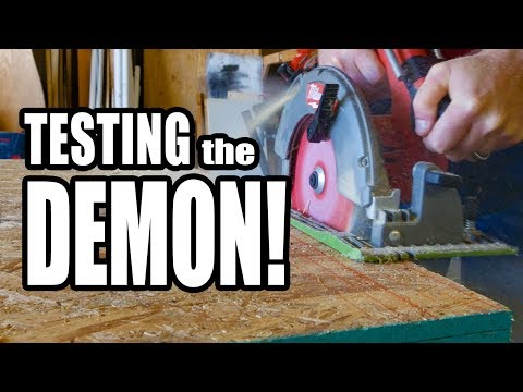 Diablo Demo Demon Tracking Point Amped Circular Saw Blades Review