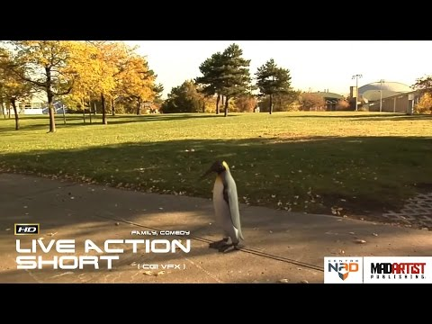 "Live Action CGI VFX Animated Short ""PENGUIN ESCAPES FROM ZOO"" Interesting Funny Film by Centre NAD"