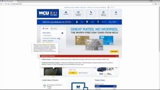 MCU Online Banking Login Tutorial