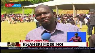 Waombolezaji wafika eneo Kabarnet na Sacho kumpa heshima za mwisho Mzee Moi