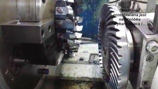 Frezowanie koła o zębach łukowych ,   helical gear - milling