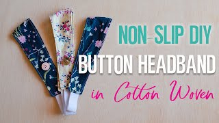 Button Headband Tutorial For Woven Fabric With Pattern