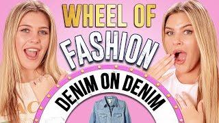 DENIM ON DENIM CHALLENGE?! Wheel of Fashion w/ Caci Twins