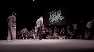 LAST ONE STANDS 2012 POPPING FINAL: SLIM BOOGIE (USA) VS IRON MIKE (France)
