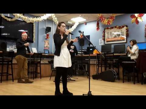 "Student Catalina sings ""And I am telling you"""