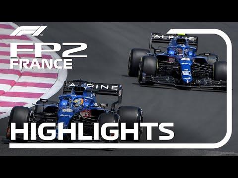 F1第7戦フランスGP(ル・キャステレ)のFP2ハイライト動画