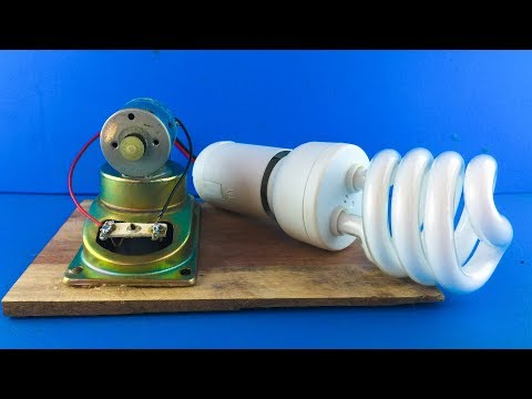 DIY Free Energy Electricity Generator 220 Volts Motor With Speaker – New Creative IDeas 2019