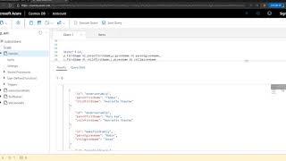 CosmosDB Quick Tip : JOINS & Subqueries Using SQL API