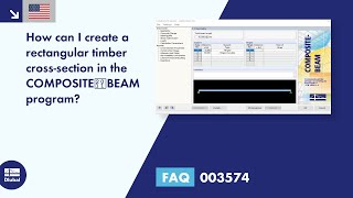 FAQ 003574 | How can I create a rectangular timber cross-section in the COMPOSITE‑BEAM program?