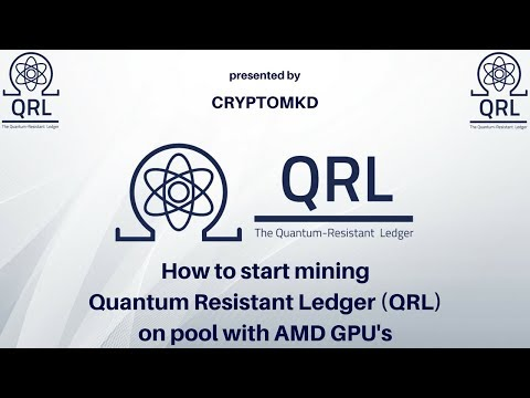 How to start mining Quantum Resistant Ledger (QRL) on pool