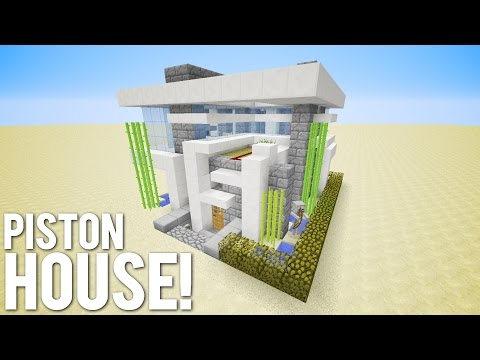 download map minecraft piston house
