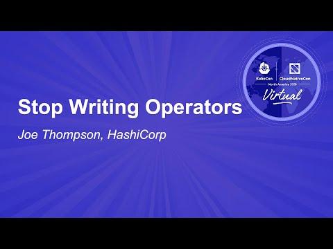 Image thumbnail for talk Stop Writing Operators