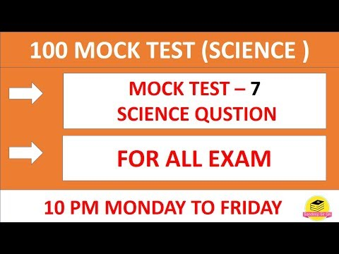 10PM || MOCK TEST 7 || RAILWAY NTPC / SSC /  GROUP D || SCIENCE QUESTIONS ||  By #Sandeep_Sir_GK