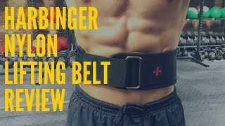 Harbinger Nylon Lifting Belt Review