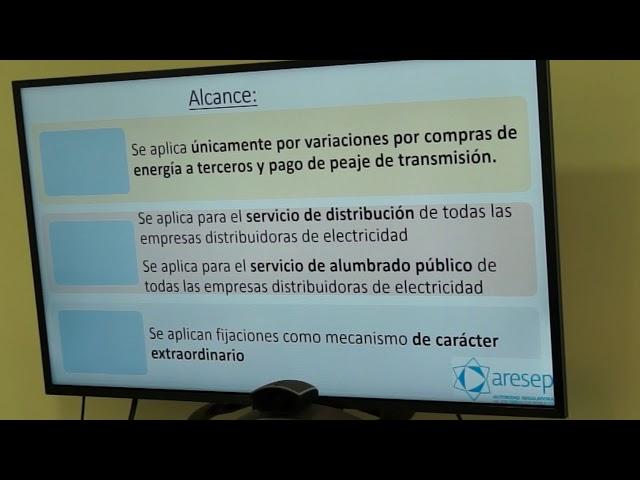 ARESEP explica propuesta de metodología distribución electricidad